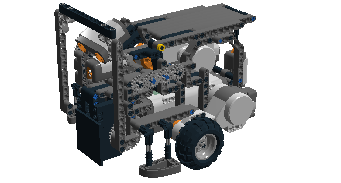 The autonomous robot constructed in Lego Digital Designer