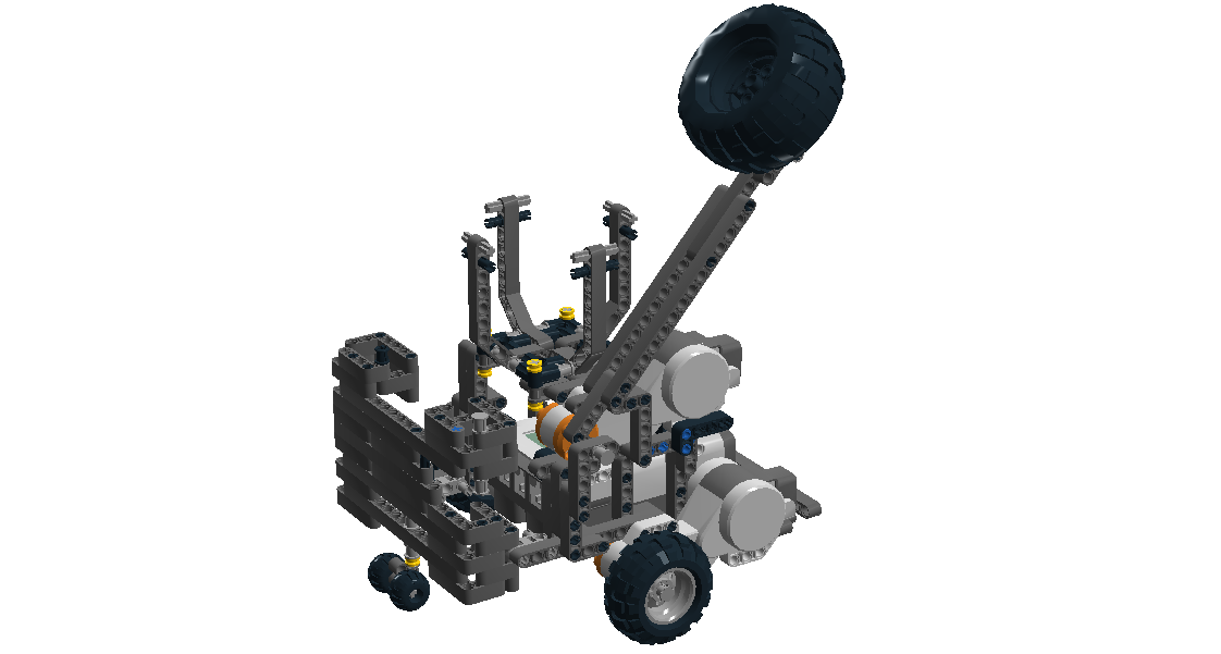 The remote controlled robot constructed in Lego Digital Designer